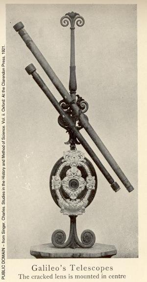 Un dels telescopis de Galileu